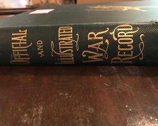 war record book spine