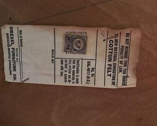 drexel chair label