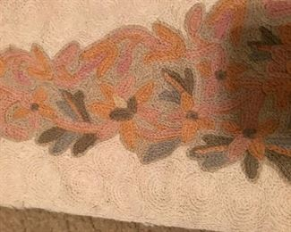 crewel rug 1 detail