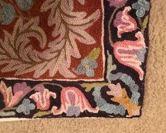crewel rug 2 detail