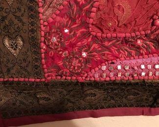 large red hanging detail