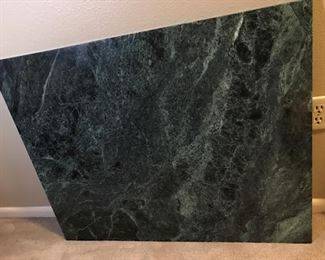 rectangle marble slab green