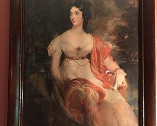 print of 18th century lady