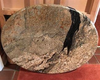 oval granite top