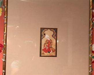 east indian print framed