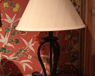 open metal lamp