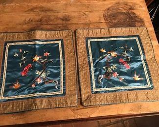 pair silk pillow covers