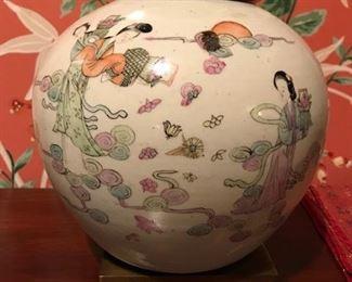 oriental vase on stand