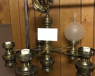 5 light fixture wglobes