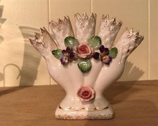 Lefton 5 spout bud vase