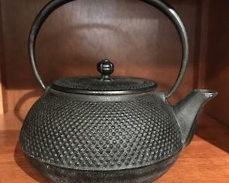 iron tea pot (probably Japanese)