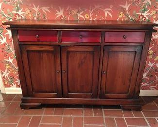 3 door/3 drawer entryway console