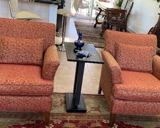 Custom Covered Chairs, Side Table