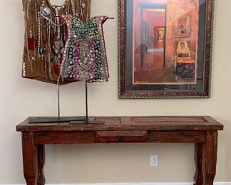 Entry Table made from an Old Door