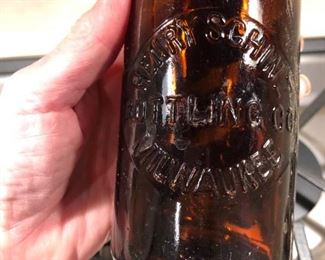 Henry Schlitz Bottling Company Milwaukee. Beautiful condition antique beer bottle.