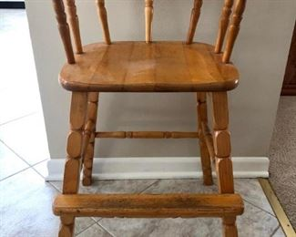 Maple youth chair. Sturdy and perfect for the toddler in your life.
