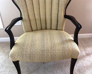 Antique channel back accent chair. Well constructed and sturdy