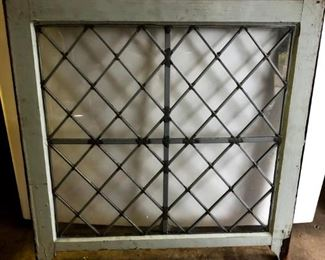 2 leaded glass windows. Hang on a wall or create your own special art piece.
