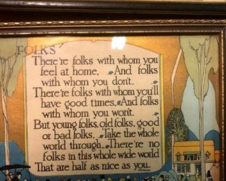 We have an entire wall of these precious framed poems. The perfect gift for a mom, dad, family or friend.