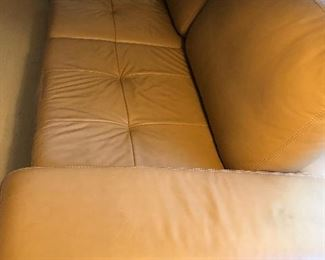 Elegant leather couch