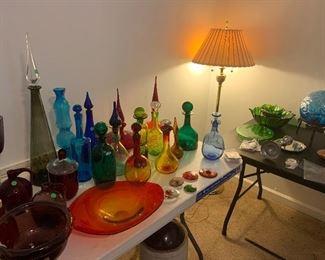 Various Blenko decanters