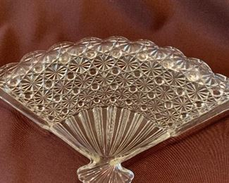#1071A  Pressed glass plate $15