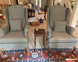 1103B  pair of wing chairs, neutral upholstery  $95 ea