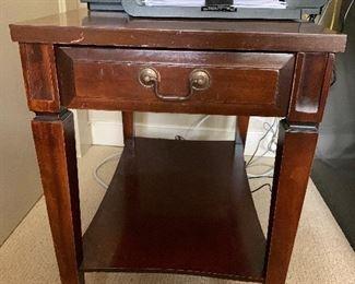 "#1153D - vintage mahogany side table, 24"" t x 15.5""w x 23.5"" deep - $75.00"