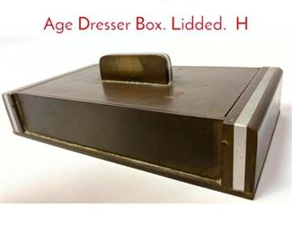Lot 5 Donald Deskey Style Machine Age Dresser Box. Lidded. H