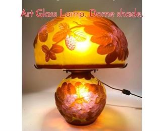 Lot 8 Vintage GALLE Reproduction Art Glass Lamp. Dome shade.