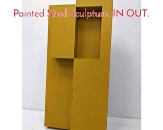 Lot 9 GERALD DiGUISTO 1972 Painted Steel Sculpture. IN OUT.