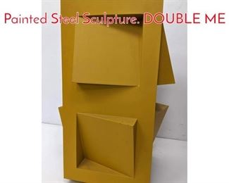 Lot 10 GERALD DiGUISTO 1971 Painted Steel Sculpture. DOUBLE ME
