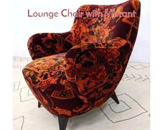 Lot 12 Attributed to Vladimir Kagan Lounge Chair with Vibrant