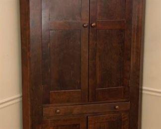 Walnut Blind Door Corner Cupboard