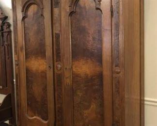 Tall Walnut Victorian Knock Down Wardrobe