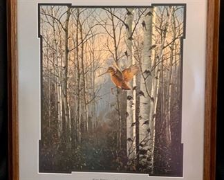 "SET OF 6 FRAMED MISTY MORNING SERIES ""Misty Morning Woodcock"" by David Maass 25"" x 28"""