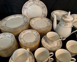 "Close up View: Noritake Ivory China Set ""Gallery""  119 Piece Set (T073)"