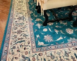 "$1,995 - Hand woven wool rug;  Non-smoking, pet free home; clean; 10'11"" x 14'"