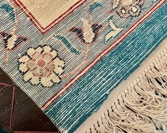 Detail; reverse; hand woven rug