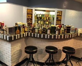 THE BAR AND STOOLS ARE FOR SALE