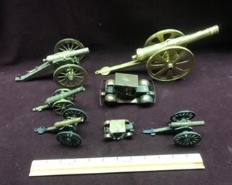 Brass and other metal cannons