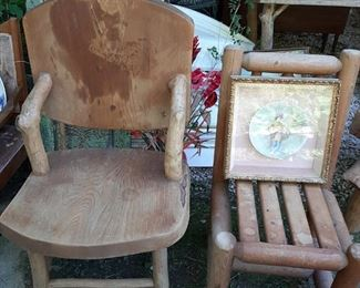 Vintage wood chairs