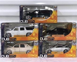 DSH011 Five Jada Toys Die-Cast Metal Cars