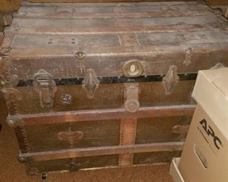Nice antique trunk with insert