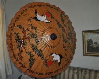Vintage Asian parasol