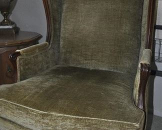 Hickory wing chair
