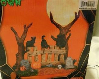 Spooky Town - Cats on a Fence
