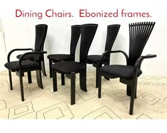 Lot 1011 Set 6 WESTNOFA Norway Dining Chairs. Ebonized frames.