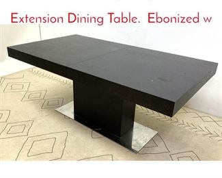 Lot 1012 Contemporary Modern Extension Dining Table. Ebonized w