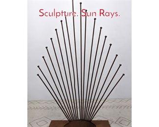 Lot 1021 Industrial Style Metal Garden Sculpture. Sun Rays.